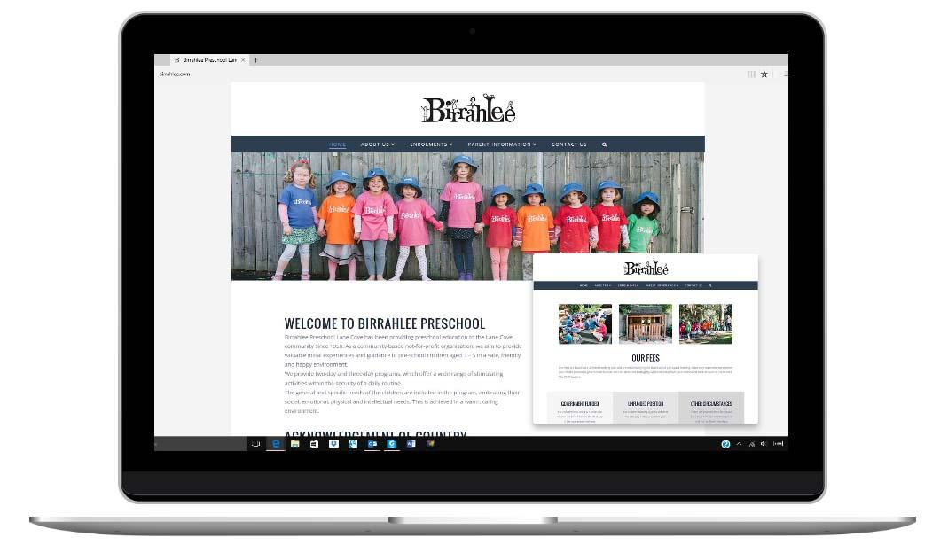 Preschool Website by Sydney website designer, The Web Composer
