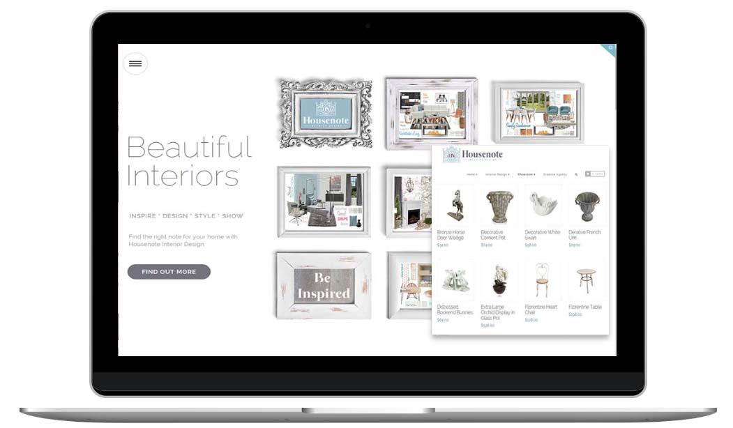Interior Design Website by Sydney website designer, The Web Composer