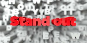 Red text saying Stand Out