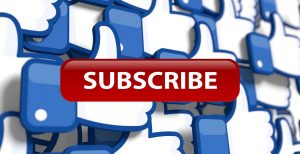 Red subscribe button Facebook Likes