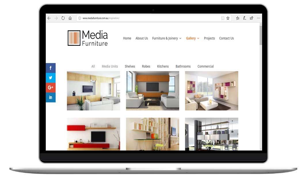 Furniture Website improved by Sydney website designer, The Web Composer