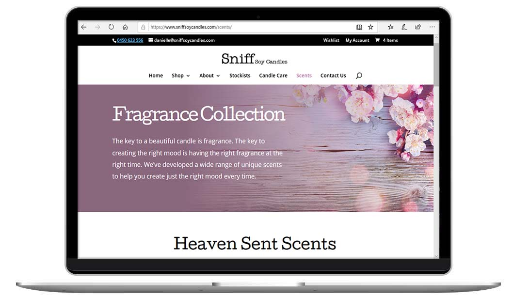 Online Candle Store by The Web Composer