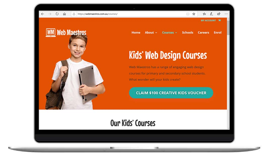 Kids Web Design Courses by The Web Composer